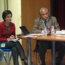 Ajit Maru and Valeria Pesce at IAALD 2010