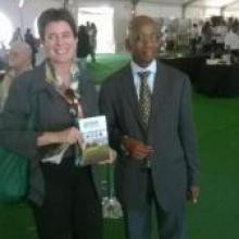 Talking about GODAN to the President of ARC South Africa Dr Shadrack R Moephuli