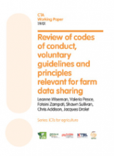 Review of codes of conduct, voluntary guidelines and principles relevant for farm data sharing