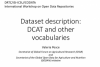 Presentation on dataset description vocabularies